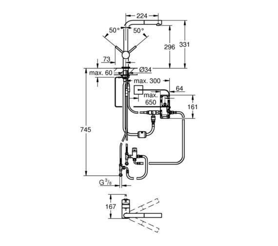 Technical drawing QS-V6853 / 31360001