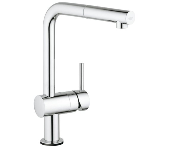 Grohe Minta Electronic Half Inch Single Lever Kitchen Sink Mixer Tap Chrome