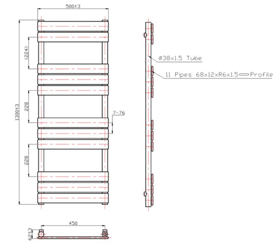 Technical drawing QS-V60451 / RA012