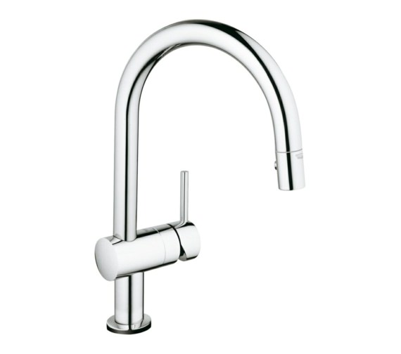 Grohe Minta Touch C Spout Electronic Kitchen Sink Mixer Tap Chrome