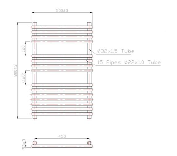 Technical drawing QS-V60452 / RA013