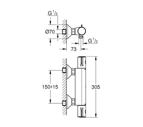 Technical drawing QS-V81839 / 34562000