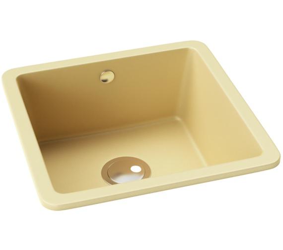 Abode Matrix SQ GR15 1.0 Bowl Sable Granite Kitchen Sink 460 x 460mm