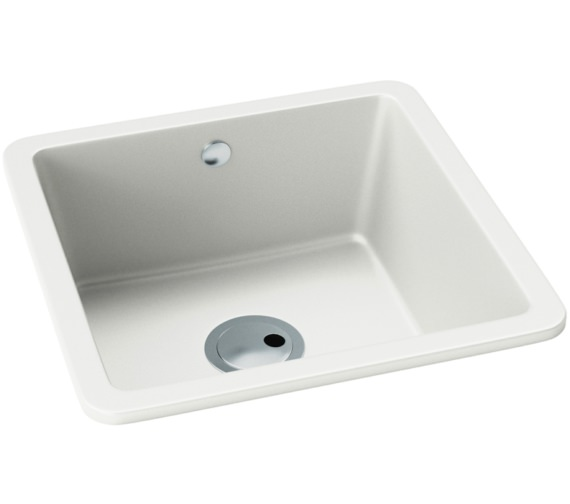 Abode Matrix SQ GR15 1.0 Bowl White Granite Kitchen Sink 460 x 460mm