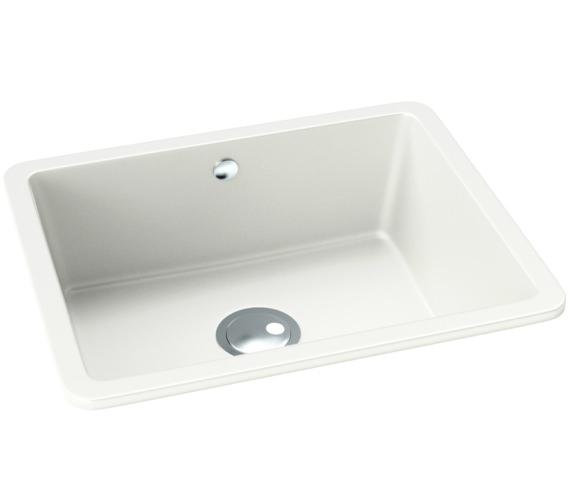Abode Matrix SQ GR15 White Granite Large 1.0 Bowl Kitchen Sink