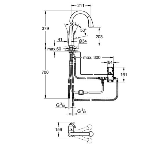 Technical drawing QS-V6860 / 30219001