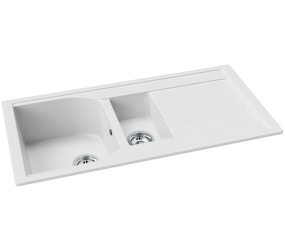 Additional image of Abode Oriel 1.5 Bowl Kitchen Sink With Drainer - Black Granite