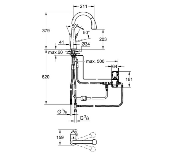 Technical drawing QS-V6858 / 30219000