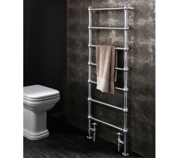 Alternate image of Bauhaus Gallery Belle 500 x 1340mm Chrome Towel Warmer