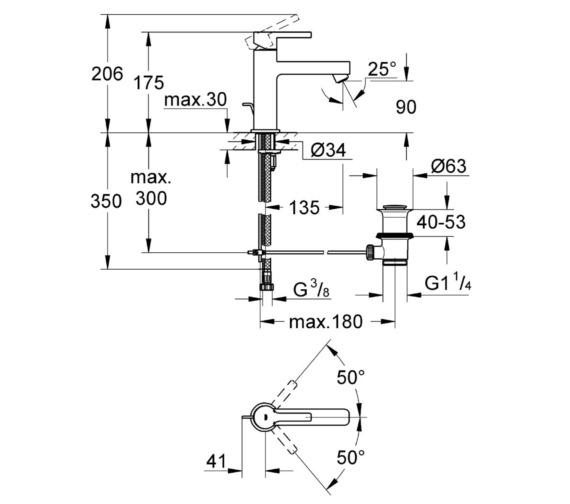 Technical drawing QS-V81841 / 23443000