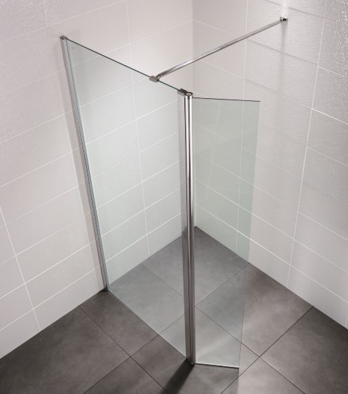 April Identiti2 500mm x 1950mm Wetroom Glass Panel