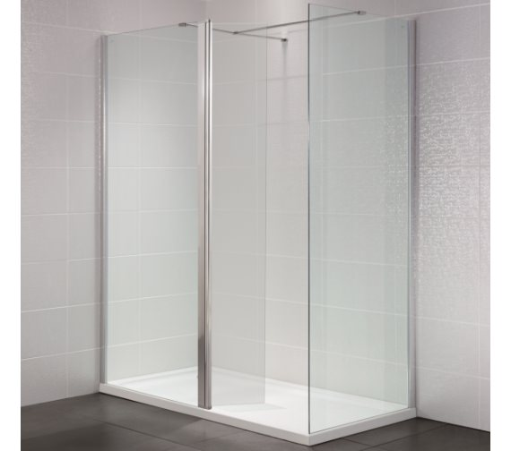 Additional image of April Identiti2 500mm x 1950mm Wetroom Glass Panel