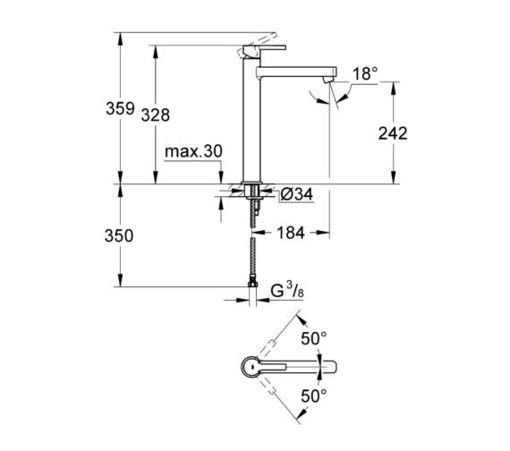Technical drawing QS-V81843 / 23405000