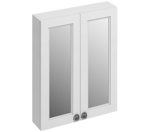 Burlington 600mm Matt White Double Door Mirror Cabinet