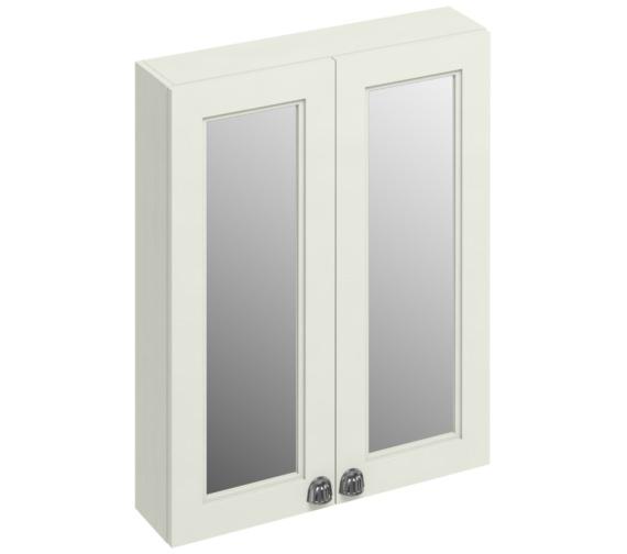Burlington 600mm Sand Double Door Mirror Cabinet