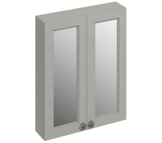 Burlington 600mm Dark Olive Double Door Mirror Cabinet