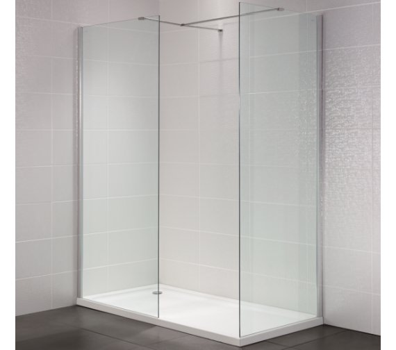 Alternate image of April Identiti2 500mm x 1950mm Wetroom Glass Panel