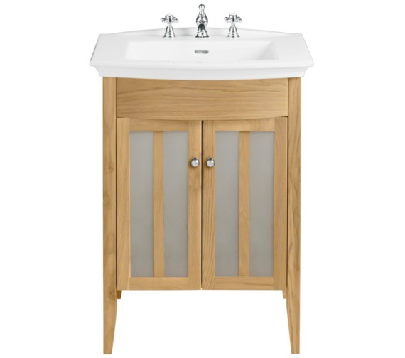 Heritage Hidcote Freestanding Oak Vanity Unit For Blenheim Basin