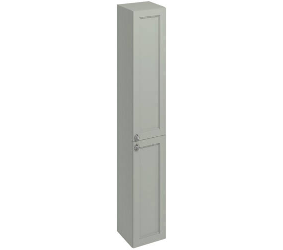 Burlington 300mm dark olive double door tall base unit f3to for 300mm tall kitchen unit