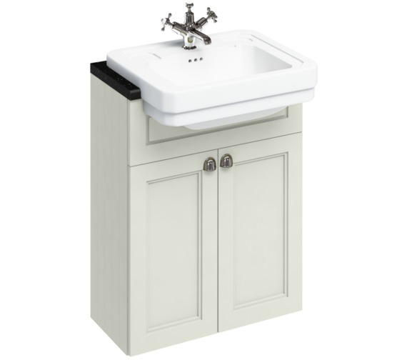 Burlington 600mm Sand Double Door Unit With Semi Recessed Basin