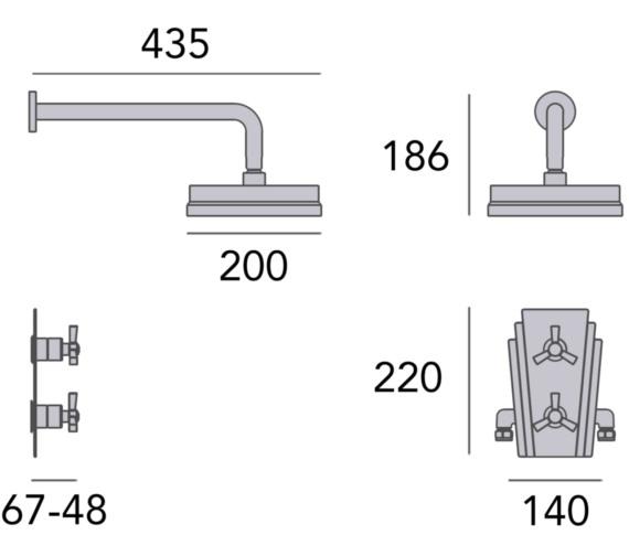 Technical drawing QS-V82394 / SGRDDUAL02