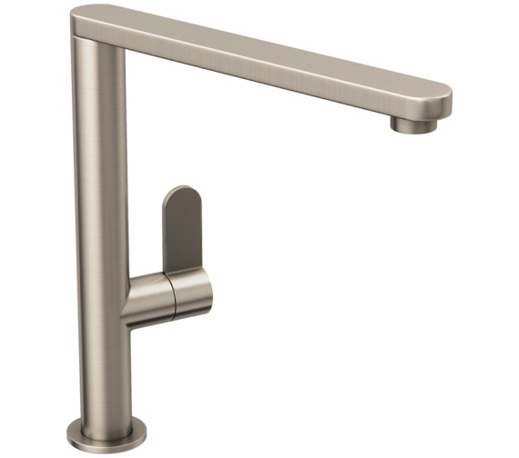 Abode Linear Brushed Nickel Single Lever Kitchen Mixer Tap