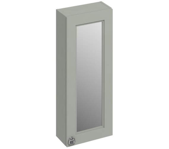 Burlington 300mm Dark Olive Single Door Mirror Cabinet