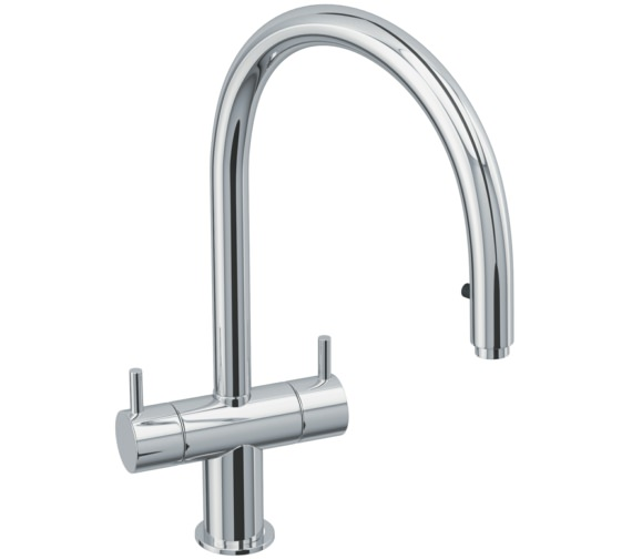Abode Hesta Chrome Pull Out Kitchen Mixer Tap