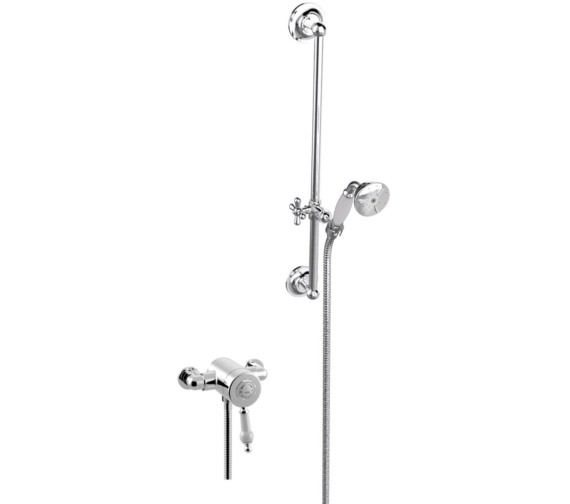 Heritage Glastonbury Exposed Thermostatic Chrome Valve With Slide Rail Kit