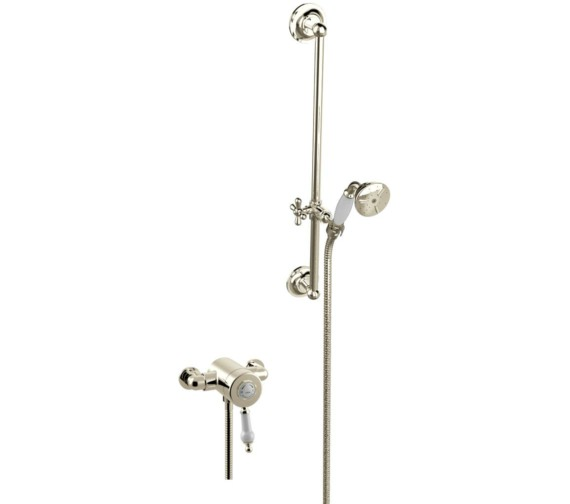 Heritage Glastonbury Exposed Thermostatic Gold Valve With Slide Rail Kit