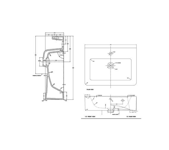Technical drawing QS-V37508 / QU050