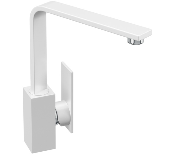 Abode New Media Gloss White Kitchen Mixer Tap