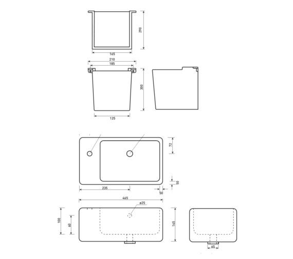 Technical drawing QS-V37514 / QU061