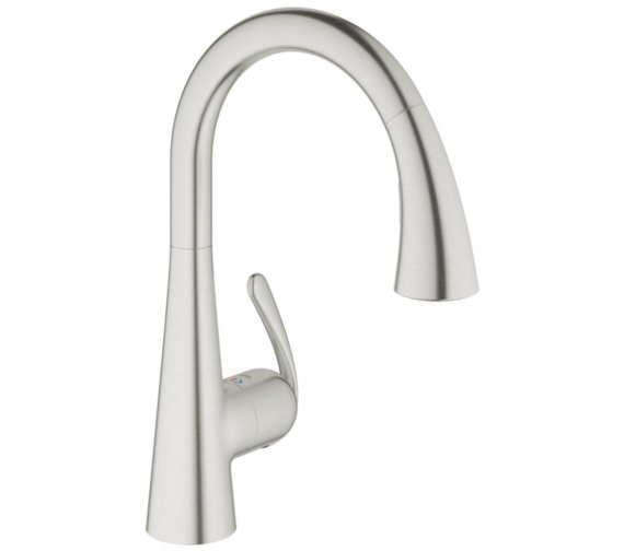 Grohe Zedra Kitchen Sink Mixer Tap Stainless Steel