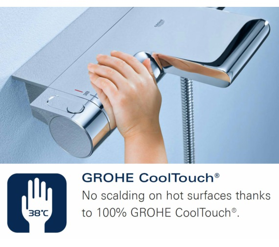 Additional image of Grohe Grohtherm 1000 Half Inch Thermostatic Bath Shower Mixer Tap