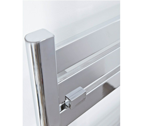 Alternate image of Phoenix Ascot 500mm Wide Designer Towel Rail Chrome