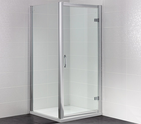 April Identiti2 1000mm Semi Frameless Hinged Shower Door