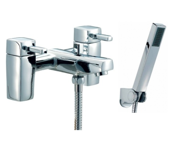Beo SL Bath Shower Mixer Tap With Shower Kit Chrome