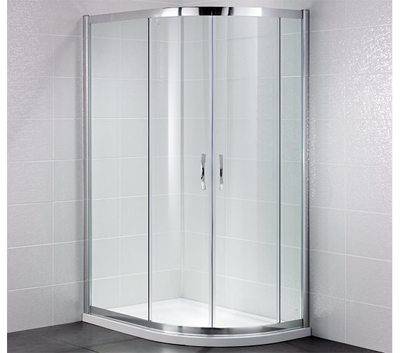 April Identiti2 1000 x 800mm Double Door Offset Shower Quadrant