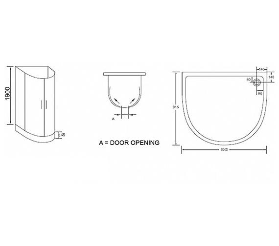 Technical drawing QS-V54608 / AP9589S