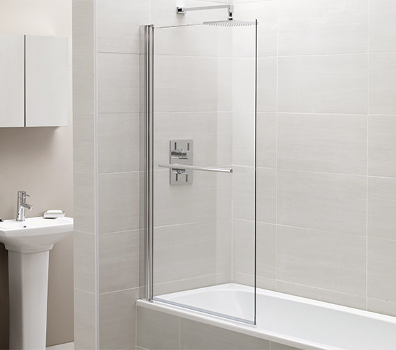 April Identiti2 800 x 1400mm Square Single Panel Bath Screen