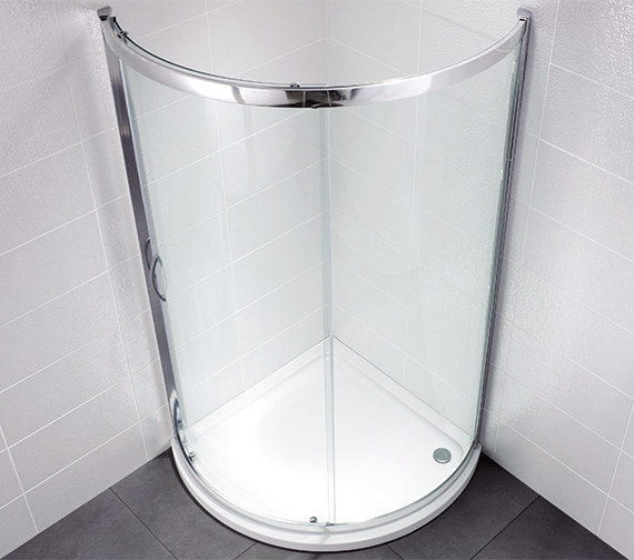 April Identiti2 900 x 900mm Bow Fronted Single Door Shower Quadrant