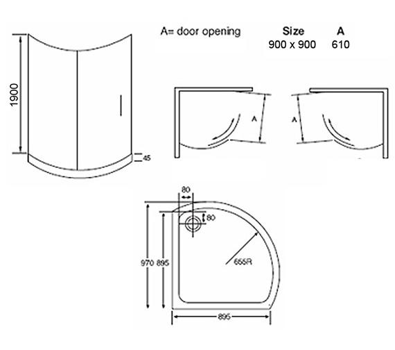Technical drawing QS-V54607 / AP9469S