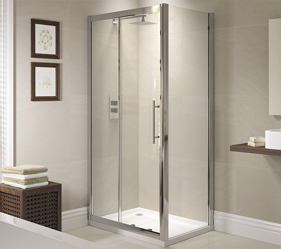 April Prestige 1400mm Sliding Shower Door