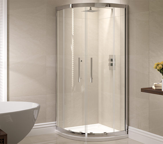 April Prestige 800 x 800mm Double Door Shower Quadrant