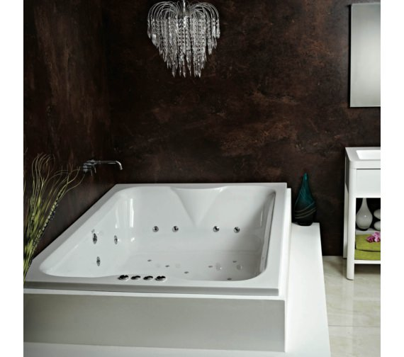 Additional image of Phoenix Marino Amanzonite 1950 x 1350mm Double Ended Whirlpool Bath