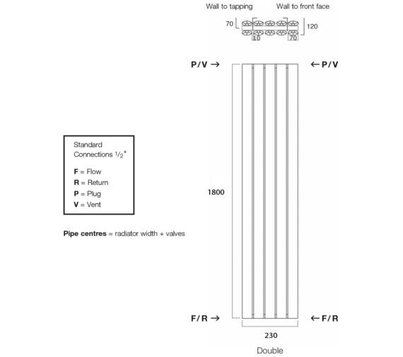 Technical drawing QS-V17943 / Sol180/3D