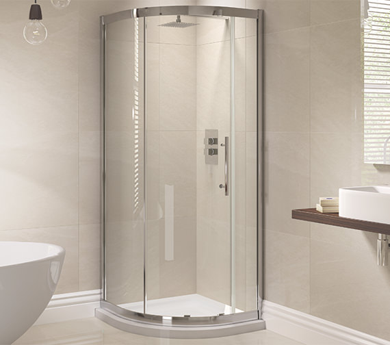April Prestige 1000 x 800mm Single Door Offset Shower Quadrant