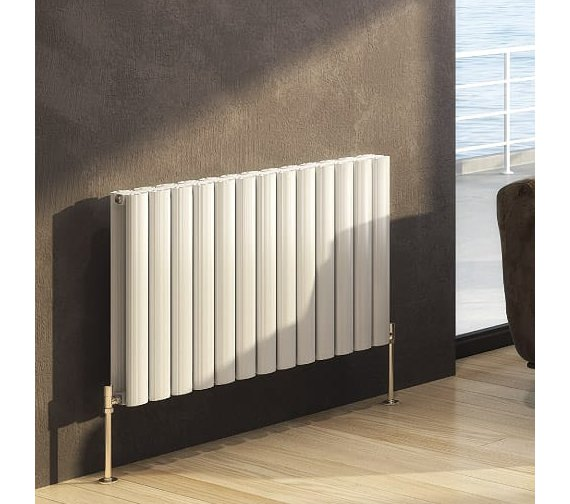 DQ Heating Sol 600mm High Single Horizontal Designer Radiator