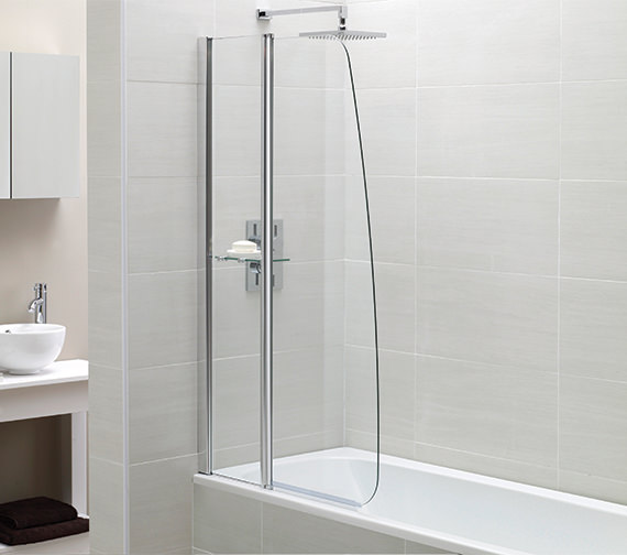 April Identiti2 900 x 1400mm Sail Fixed Panel Bath Screen